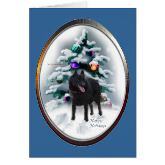 Schipperke Christmas Gifts Card