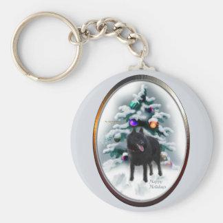 Schipperke Christmas Gifts Key Chains