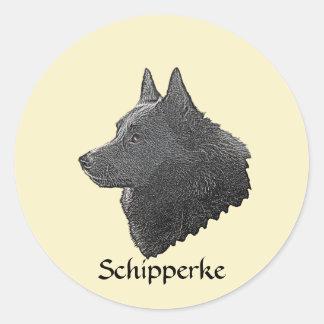 Schipperke Classic Round Sticker