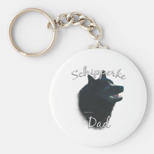 Schipperke Dad 2 Key Chain