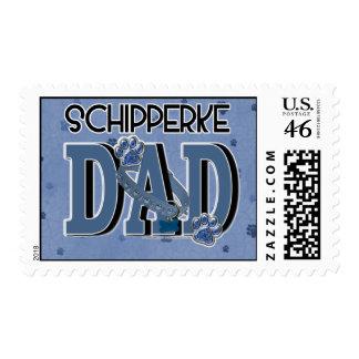 Schipperke DAD Postage Stamp