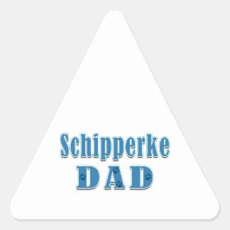 Schipperke Dad Triangle Sticker