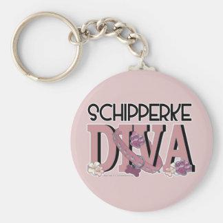 Schipperke DIVA Keychain