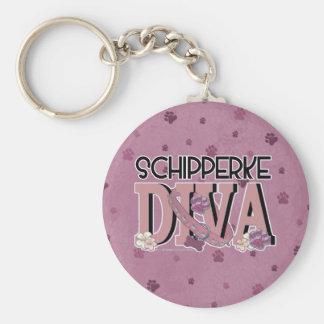 Schipperke DIVA Key Chain