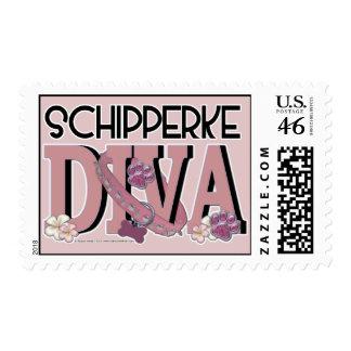Schipperke DIVA Postage Stamps