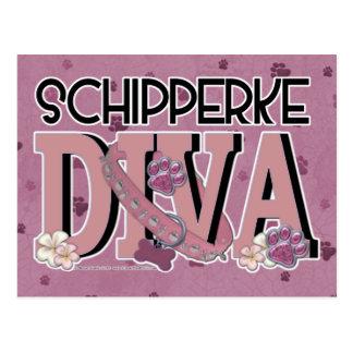 Schipperke DIVA Postcard