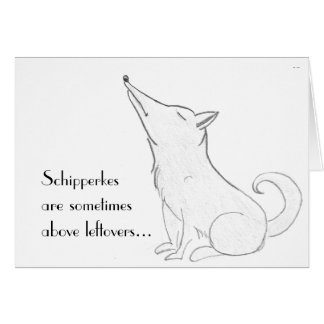 Schipperke Dog Cartoon Card