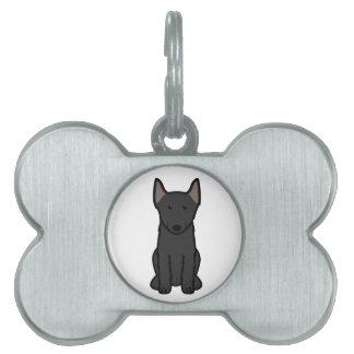 Schipperke Dog Cartoon Pet ID Tag