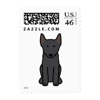 Schipperke Dog Cartoon Postage Stamp
