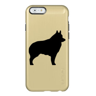 Schipperke dog silhouette incipio feather shine iPhone 6 case