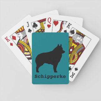 Schipperke dog silhouette playing cards