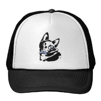 Schipperke Dog with Mustache Trucker Hat