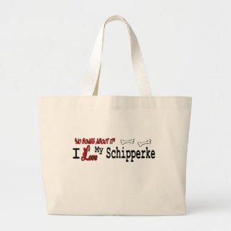 Schipperke Gifts Large Tote Bag