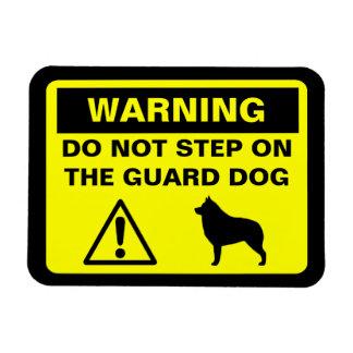 Schipperke Guard Dog Warning Magnet