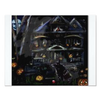Schipperke Halloween Haunted house Card