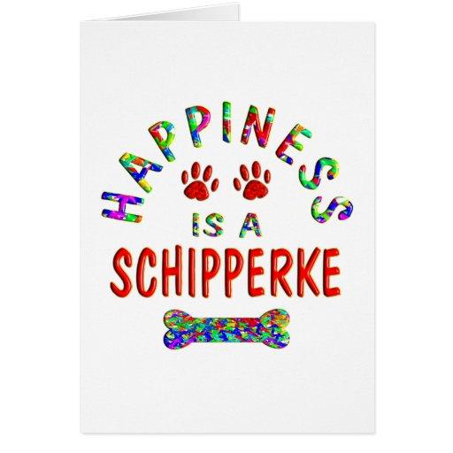 Schipperke Happiness Greeting Card