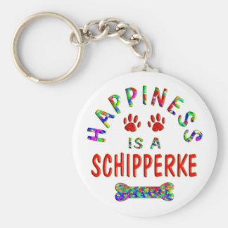Schipperke Happiness Keychain