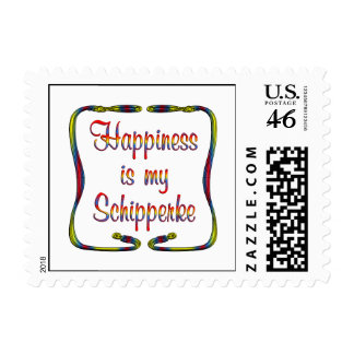 Schipperke Happiness Postage Stamps