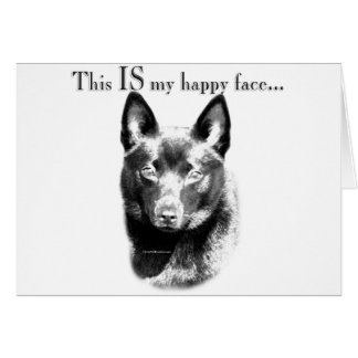 Schipperke Happy Face Card