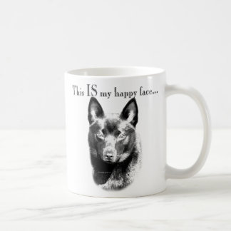 Schipperke Happy Face Coffee Mug