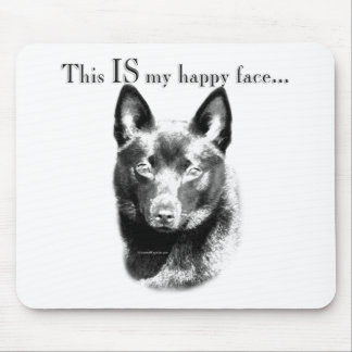 Schipperke Happy Face Mouse Pad