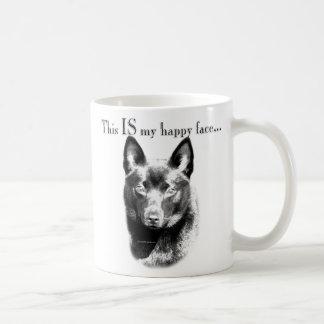 Schipperke Happy Face Coffee Mugs