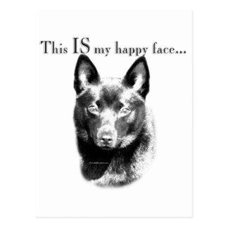 Schipperke Happy Face Postcard