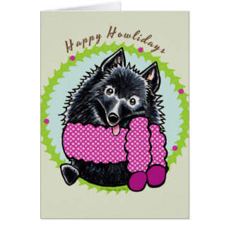 Schipperke Happy Howlidays Card