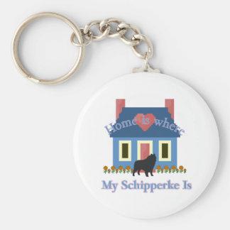 Schipperke Home Is Where Keychains
