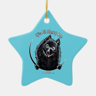 Schipperke IAAM Ceramic Ornament