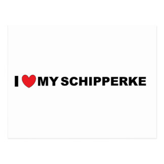 Schipperke love postcard