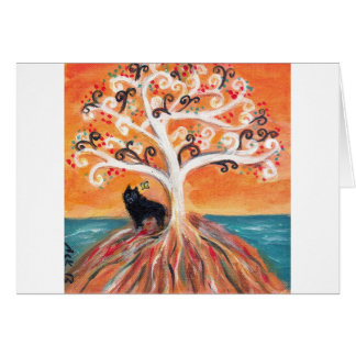 Schipperke love spiritual tree beauty of orange card