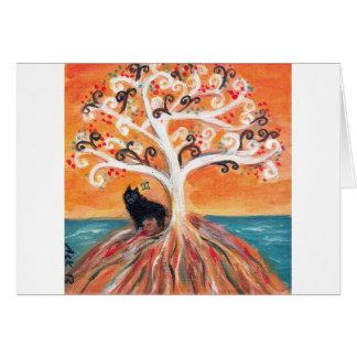 Schipperke love spiritual tree beauty of orange card