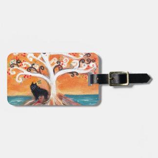 Schipperke love spiritual tree beauty of orange luggage tag