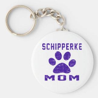 Schipperke Mom Gifts Designs Keychains