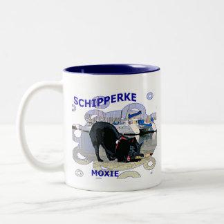 Schipperke Moxie Two-Tone Coffee Mug