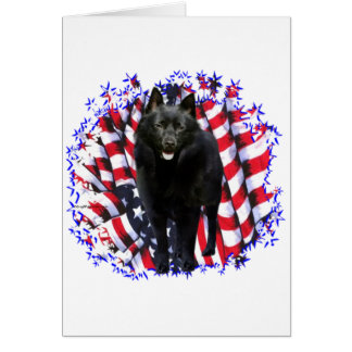 Schipperke Patriot Card