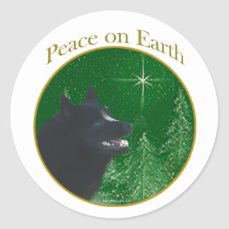 Schipperke Peace Sticker