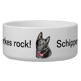 Schipperke Picture Dog Bowl