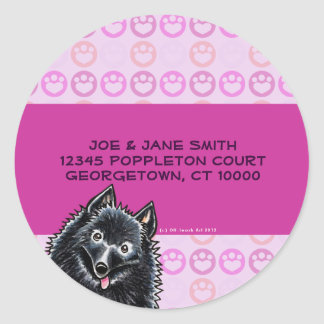 Schipperke Purple Paws Custom Labels