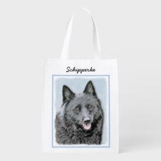 Schipperke Reusable Grocery Bag
