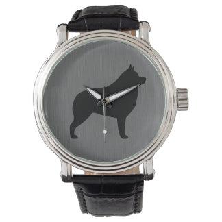 Schipperke Silhouette Wristwatch