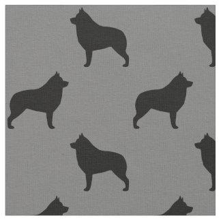 Schipperke Silhouettes Pattern Fabric
