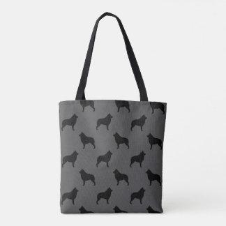 Schipperke Silhouettes Pattern Tote Bag