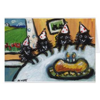 Schipperke summer birthday party card