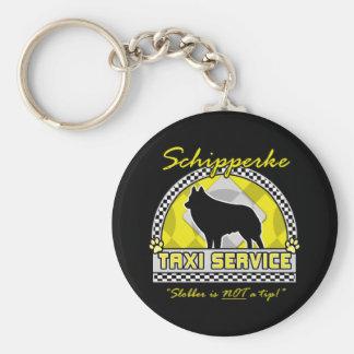 Schipperke Taxi Service Keychain