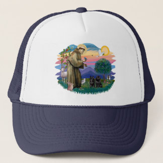 Schipperke (two) trucker hat