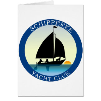 Schipperke Yacht Club Card