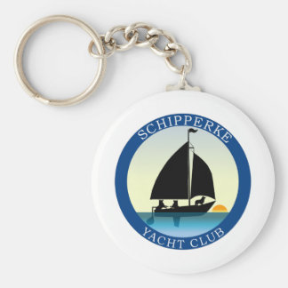 Schipperke Yacht Club Key Chain