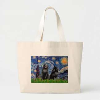 Schipperkees (two,5&6) - Starry Night Large Tote Bag